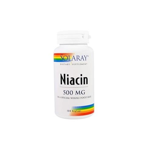 高機能 高品質サプリメント代表ブランド 登場大人気アイテム Solaray Niacin Capsules 500 錠 mg ソラレー セール価格 100 ナイアシン