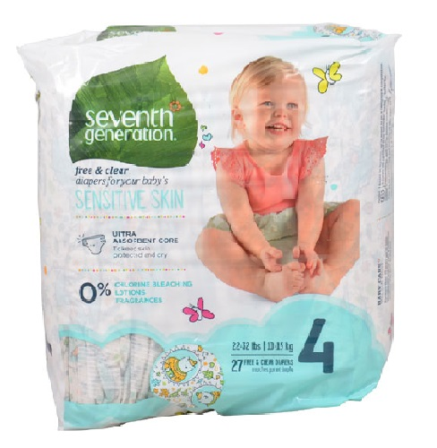 Seventh Generation 売買 無添加 おむつ ステージ4 10-17kg 27枚入り セブンスジェネレーション 超特価SALE開催 Baby Free Diapers Stage 22-37 and 27 - Clear 4: lbs