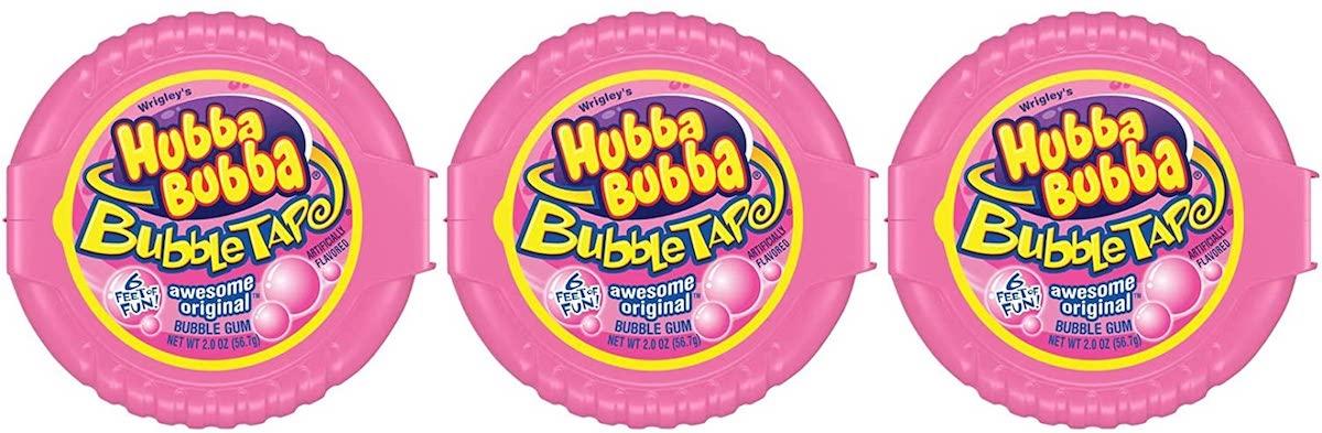テープのように長~いガム 3個セット HUBBA BUBBA Tape Original ハバ ババ 2oz テープ オンラインショップ オリジナル味 在庫処分 6ft 56.7g 1.82m バブルガム