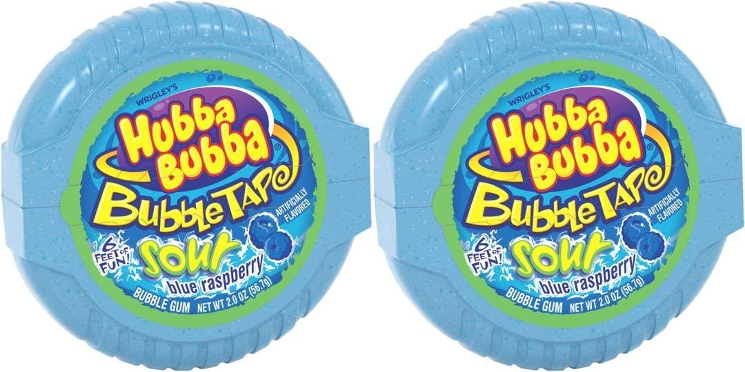 テープのように長~いガム 期間限定送料無料 2個セット HUBBA BUBBA Bubble Tape Gum 6FT ハバ サワー 2oz 1.82メートル ババ ブルーラズベリー味 6フィート テープ 超激得SALE バブルガム