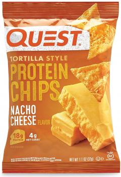 1袋あたり 21gのプロテイン Quest 選択 人気ブランド Protein Chips Nacho Cheese ナチョチーズ 8袋セット プロテインチップス 32g クエスト 1.1oz