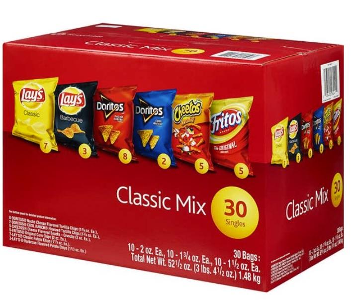 色々な味を試せちゃう 訳あり 箱ダメージ 中身は無事 Frito-Lay Classic Mix 30袋パック ミックスバラエティー 日本 ct 30 フリトレークラシック Variety 開店記念セール チップス