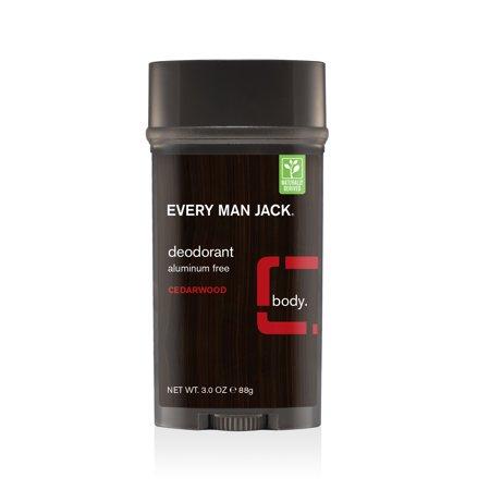 アルミニウムフリー 使いやすいスティックタイプ Every Man 新作通販 Jack Deodorant Cedarwood Aluminum エヴリマン 3.0oz 卓出 85g シダーウッド ジャック スティック デオドラント Free