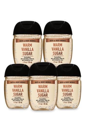【5本セット】バス&ボディワークス Sanitizing Hand Gel 29ml【Warm Vanilla Sugar】 Bath & Body Works  抗菌ハンドジェル ウォームバニラシュガー まとめ買い5本セット