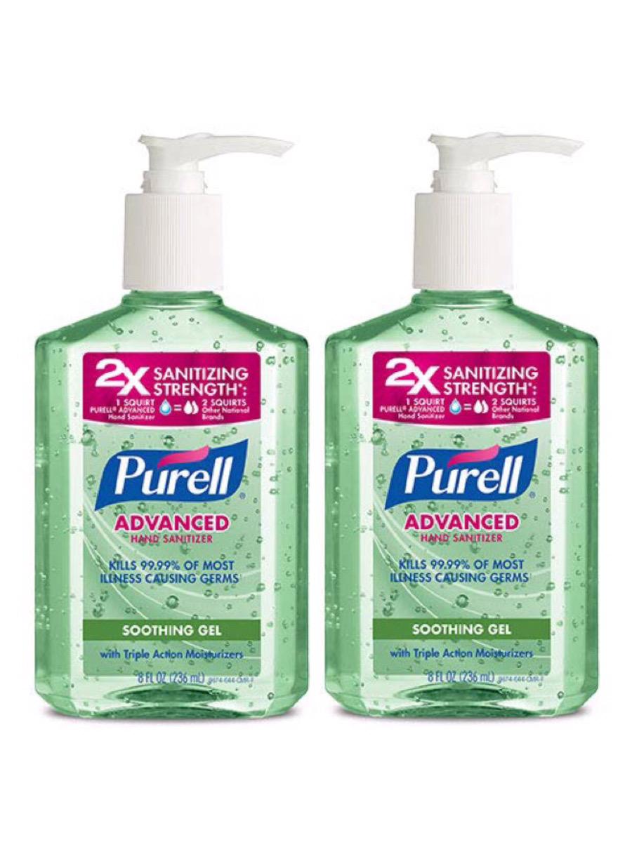 【お徳用2個セット】PURELL Advanced Hand Sanitizer Soothing Gel, Fresh scent, with Aloe and Vitamin E- 8 fl oz / アメリカ ピュレル ハンドサニタイザー 除菌ジェル アロエ配合 99.9% 除菌 抗菌 消毒 236 ml x 2個セット