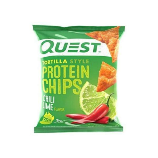 1袋あたり 21gのプロテイン Quest Protein Chips Chili 着後レビューで 送料無料 Lime プロテインチップス 32g 8袋セット チリライム 評価 1.1oz クエスト