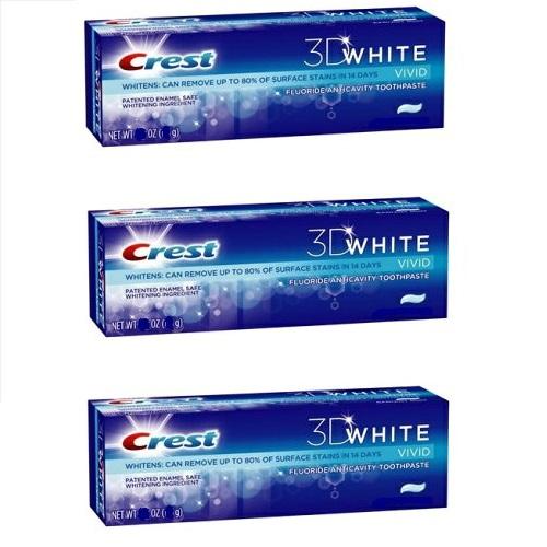 クレスト新商品 ウルトラ強力歯磨き粉 最強版 クレスト 3Dホワイト ウルトラ ホワイトニング ビビッドミント 2020A/W新作送料無料 買収 歯磨き粉 お得な3個セット Crest White Whitening 150g Toothpaste Mint 3D Pack Vivid 3 ULTRA