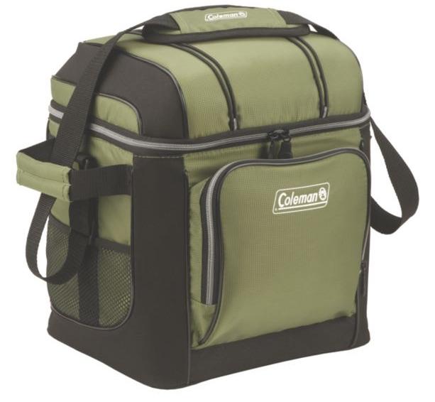 キャンプやアウトドア ショッピングにも使えて便利☆ Coleman 30 Can Removable Liner Cooler Green ランチバッグ セール品  記念日 保冷 30-CAN グリーン コールマン クーラーバック 3000001310 プラスチックライナー付き