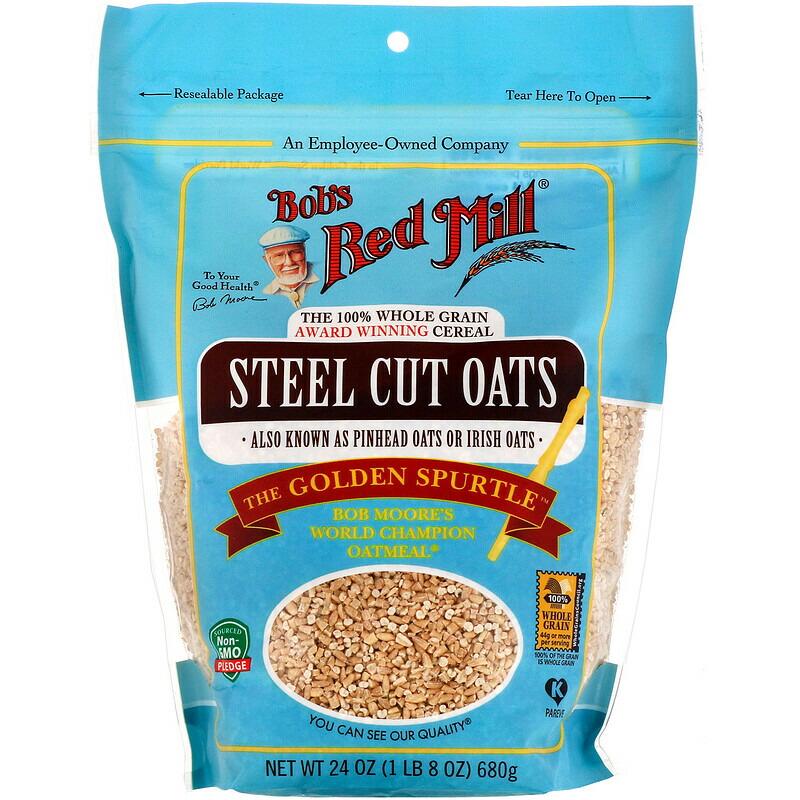 リゾットやピラフ、アラキニなど様々なレシピにもオススメ! Bob's Red Mill Steel Cut Oats, Whole Grain 24oz / ボブズレッドミル スチールカット ロールドオーツ 全粒 オートミール オーツ麦 680g