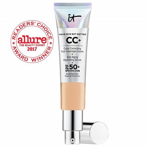 It Cosmetics CC+ Color Correcting Cream + Anti Aging Hydrating Serum SPF50 Light Medium 1.08oz イットコスメティクス CC+ カラーコレクティング フルカバークリーム + アンチエイジングセラム ライトミディアム 32ml