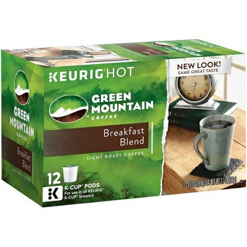 キューリグ Kカップ グリーンマウンテン ブレックファスト 90個 KEURIG Green Mountain Coffee Breakfast Blend K-cups, 90-Count