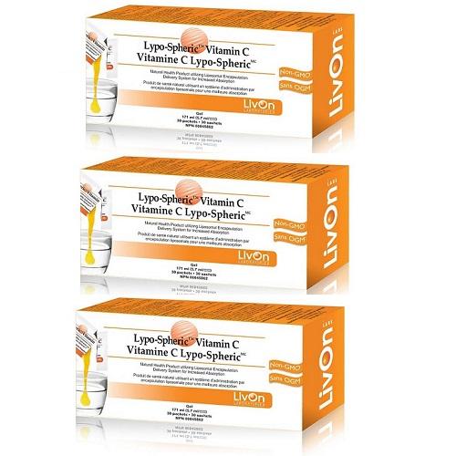 3箱セット!飲む点滴サプリ リポスフェリック ビタミンC 30包×3箱 Lypo-Spheric vitaminC