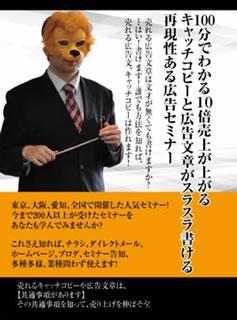 【送料無料】 100分で理解できる!売れる広告・キャッチコピーセミナー~東京・大阪・愛知,全国開催されたセミナーがDVDに!?~[DVD]