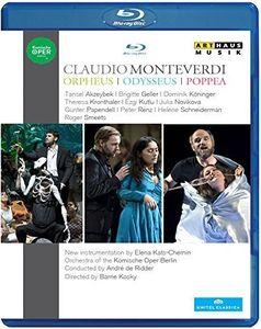 【送料無料】Monteverdi/Kats-Chernin/Orchestra Of The Komis / Odysseus Orpheus & Poppea (3PC)(輸入盤ブルーレイ)