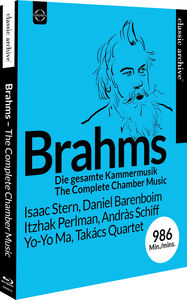 【送料無料】OISTRAKH/SCHIFF/KELLER QUARTET/BARENBOIM / CLASSIC ARCHIVE BRAHMS: THE COMPLETE CHAMBER MUSIC (輸入盤ブルーレイ)【BM2016/11/18発売】