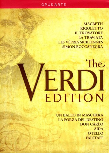 【送料無料】VERDI/GAVANELLI/ROYAL OPERA CHORUS/RIZZI / VERDI EDITION: 12 GREAT OPERAS (17PC) (輸入盤DVD)