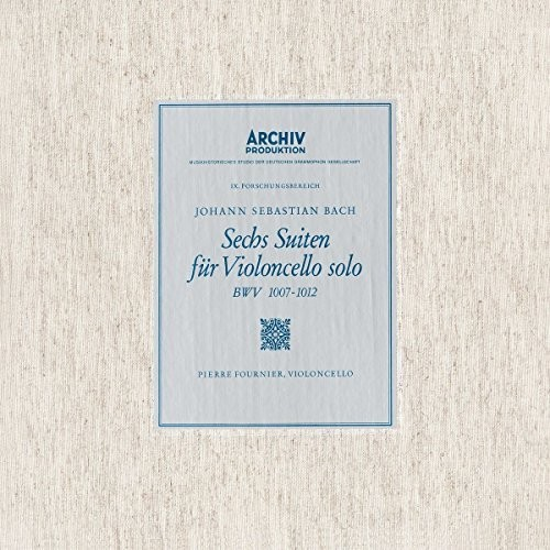 【輸入盤LPレコード】【送料無料】Bach/Pierre Fournier / 6 Cello Suites Bwv1007-1012【LP2017/2/24発売】