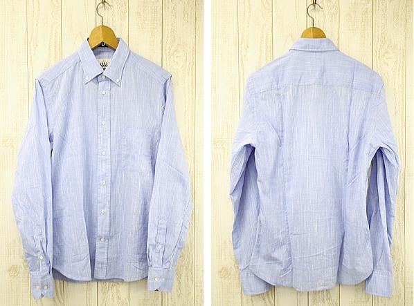 BD BAGGIES ビーディーバギーズ B.D SHIRTS ボタンダウンシャツ DEXTER001 ブルー