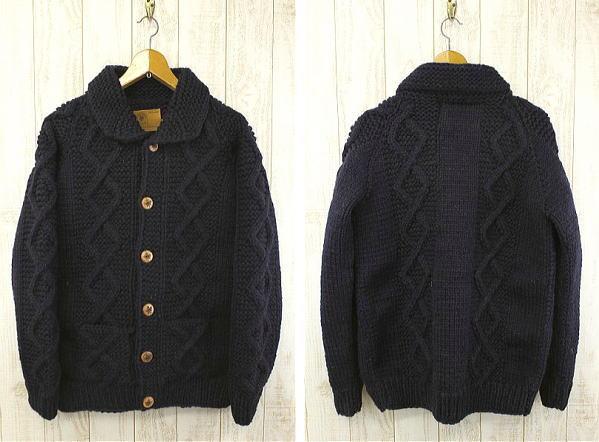 CANADIAN SWEATER カナディアンセーター Cowichan Sweater カウチンセーター カウチンジャケット カーディガン 8018 ネイビー
