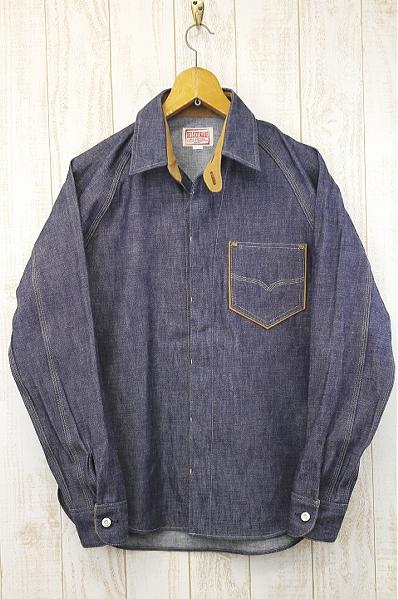 DELUXEWARE デラックスウエア 40s DENIMシャツ ウォッシュ済 7640 インディゴブルー