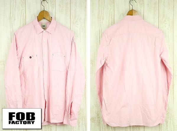F.O.B FACTORY エフオービーファクトリー OX WORK SHIRT オックスフォードワークシャツ F3193 ピンク
