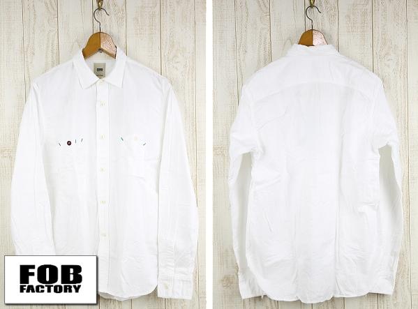 F.O.B FACTORY エフオービーファクトリー OX WORK SHIRT オックスフォードワークシャツ F3193 ホワイト
