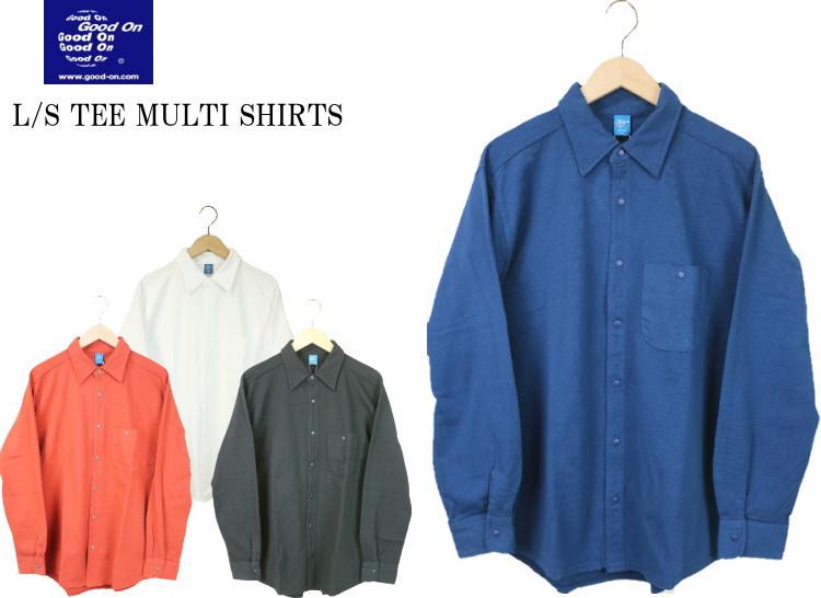 Good On グッドオン L/S TEE MULTI SHIRTS ロングスリーブT-マルチシャツ GOLT1909 4colors 送料無料