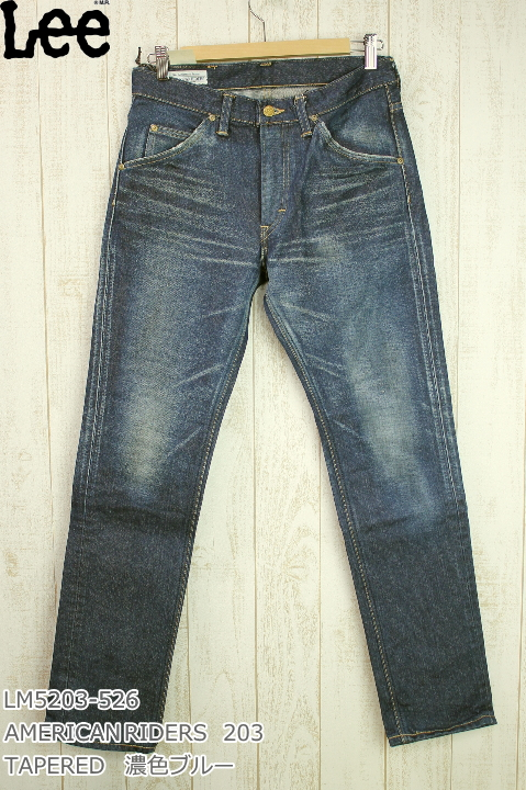 Lee 203 TAPERED MODEL MADE IN JAPAN AMERICAN RIDERS LM5203-400 濃色ブルー DK USED