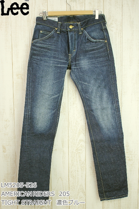 Lee 205 TIGHT STRAIGHT MODEL MADE IN JAPAN AMERICAN RIDERS LM5205-526 濃色ブルー DK USED