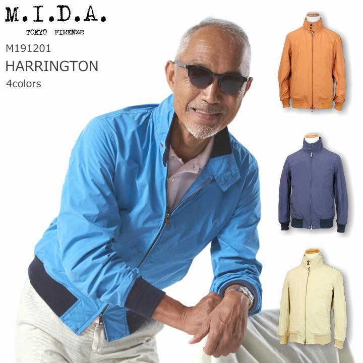 M.I.D.A. HARRINGTON ハリントンジャケット M191201 4color 2019SS 送料無料