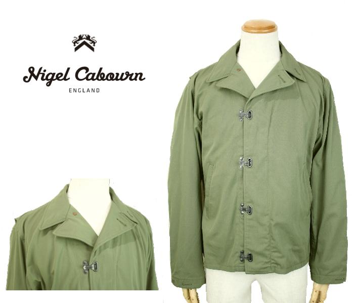 Nigel Cabourn ナイジェル・ケーボン N-4 JACKET WEATHER CLOTH N-4ジャケット 80380080000 GREEN 送料無料