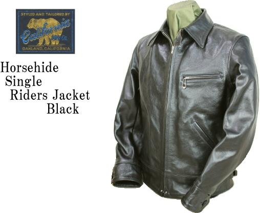 RAINBOW COUNTRY レインボーカントリー Horsehide Single Riders Jacket RCL-10013H/ Jacket ホースハイド シングルライダース ジャケット 2017モデル RCL-10013H BLACK