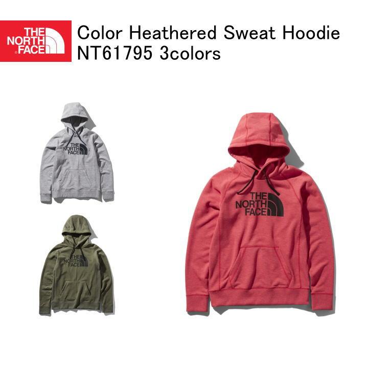 THE NORTH FACE ザ・ノースフェイス Color Heathered Sweat Hoodie カラーヘザードスウェットフーディ プルオーバーパーカ スウェットパーカ ニュートープ NT61795 3colors