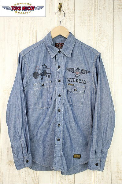 TOYS McCOY PRODUCT トイズマッコイプロダクト MILITARY CHAMBRAY WORK SHIRT FELIX THE CAT