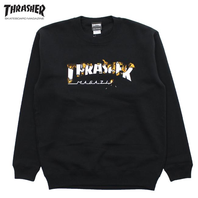 メンズ トレーナー THRASHER スラッシャー スウェット クルーネック ファイアーロゴ TH94219
