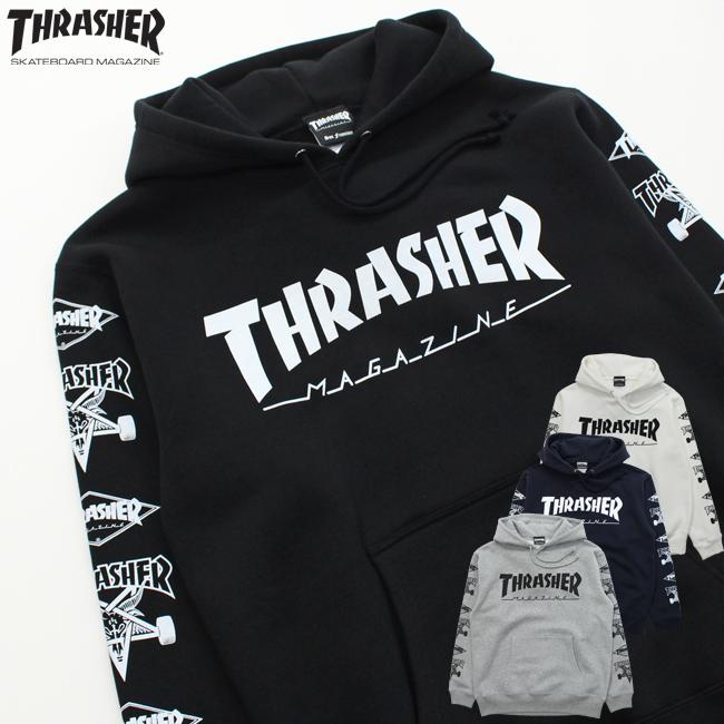 メンズ パーカー THRASHER スラッシャー プルパーカー MULTI-E TH95159