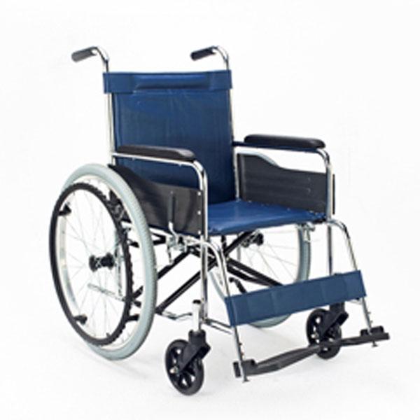 車椅子・エコノミーシリーズ 自走式・背固定タイプ (EX-10B)[isda]