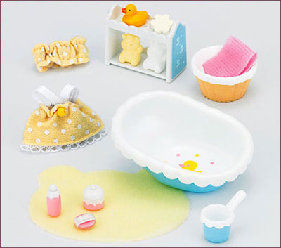 Sylvanian Families Furniture Baby Bath Set Released シルバニアファミリー 家具 ベビーバスセット