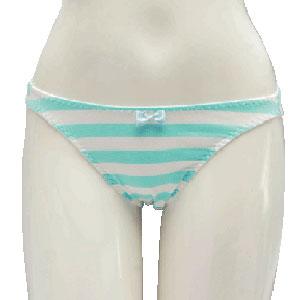 Shimapan (Striped Panties) 1/1 Real Version Lolita Type Panties (Light Blue) Ladies' M Size