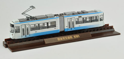 Tetsudou Collection Kumamoto City Transportation Type 9700 1st Batch (9701) 2-car Set(Released)(鉄道コレクション 熊本市交通局9700型1次車(9701)2両セット)