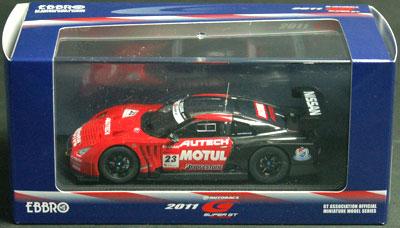 モチュール オーテック GT-R スーパーGT500 2011 岡山テスト(レッド/ブラック)[EBBRO]《取り寄せ※暫定》