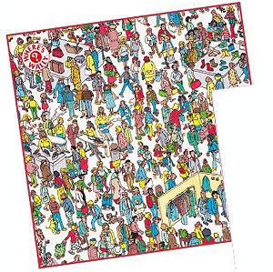 WHERE'S WALLY?(워리를 찾아라! ) 손수건/백화점[엔스카이]《제고품절》