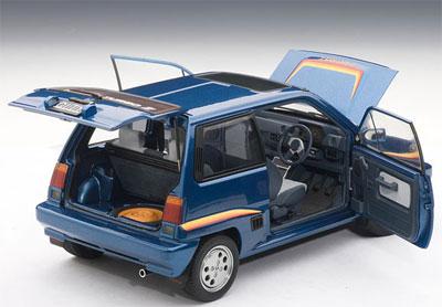 オートアート ダイキャスト・モデルカー 1/18 ホンダ シティ ターボII(M.ブルー/オプション・ストライプ)[オートアート]《取り寄せ※暫定》