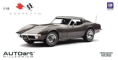 オートアート ダイキャスト・モデルカー 1/18 シボレー コルベット 1970 グレー・メタリック[オートアート]《取り寄せ※暫定》