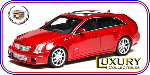 LUXURY 레진 모델 카1/43캐딜락 CTS-V웨건 2011(크리스탈 레드)[히코세분]《제고품절》