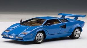 ダイキャスト・モデルカー シグネチャーシリーズ 1/43 ランボルギーニ カウンタック 5000S(ブルー)[オートアート]《取り寄せ※暫定》