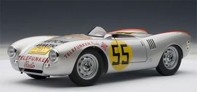 ダイキャスト・モデルカー 1/18 ポルシェ 550スパイダー 1954 #55(ハンス・ヘルマン/カレラパンアメリカーナ・クラス優勝)[オートアート]《取り寄せ※暫定》