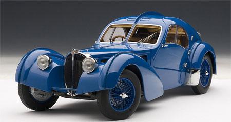ダイキャスト・モデルカー シグネチャーシリーズ 1/18 ブガッティ タイプ57SC アトランティック 1938 (ブルー)[オートアート]《取り寄せ※暫定》