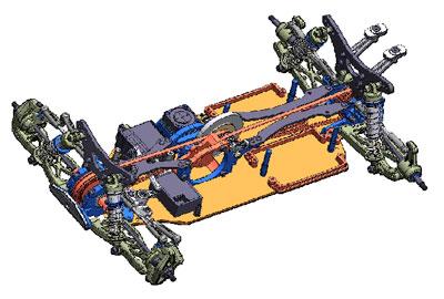 RC限定 1/10電動RC 4WD レーシングバギー TRF511 アップグレードセット[タミヤ]《取り寄せ※暫定》