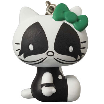Ultra Detail Figure KISS x Hello Kitty - Keychain: THE CATMAN(Back-order)(ウルトラディテールフィギュア KISS × ハローキティ キーホルダー THE CATMAN)